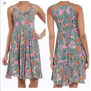 Lilka Seaglass Paisley Dress Bright Colors